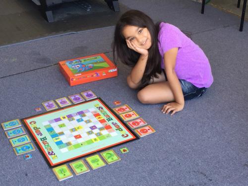 Samaira Mehta và trò chơi CoderBunnyz của mình.