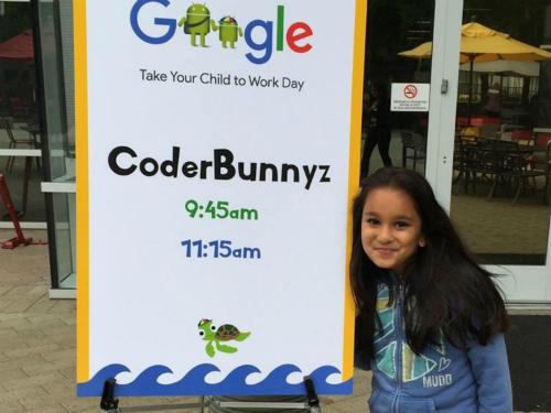 Samaira Mehta làm diễn giả tại một buổi hội thảo của Google.