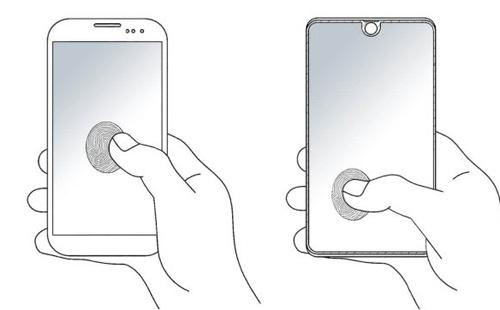 Hai bản vẽ điện thoại Samsung.