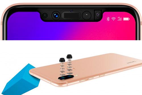 Camera kép ở mặt trước của mẫu Android giá rẻ có tính năng quét 3D.