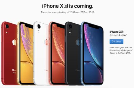 iPhone XR sẽ được Apple bán ra tại Mỹ, Singapore, Hong Kong, Trung Quốc từ 26/10 nhưng hàng chính hãng ở Việt Nam tới 2/11 mới xuất hiện.