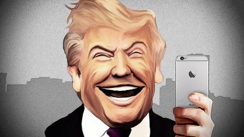Tổng thống Trump đang sử dụng ba chiếc iPhone.