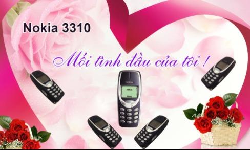 Chiếc điện thoại Nokia 3310 được anh Hoàng Quốc Bảo ví như mối tình đầu.