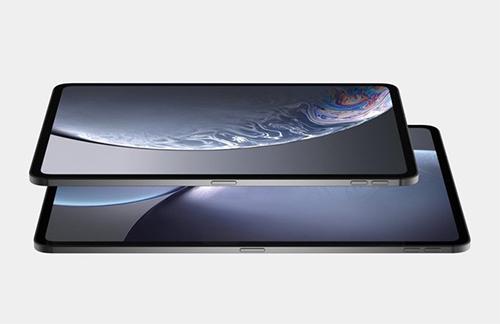 iPad Pro mới không còn phím bấm ở mặt trước, sử dụng các thao tác điều khiển bằng cử chỉ như iPhone X, XS.