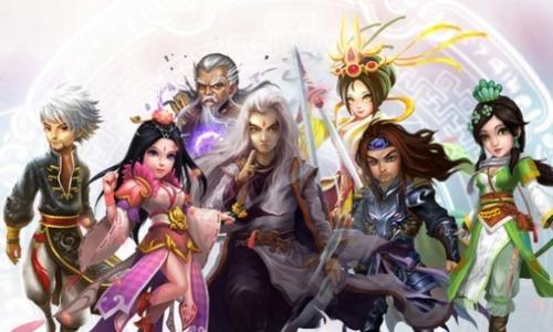 Các nhân vật được chuyển thể từ tiểu thuyết Kim Dung, trong trò chơi Mộng Võ Lâm, do người Việt sản xuất.