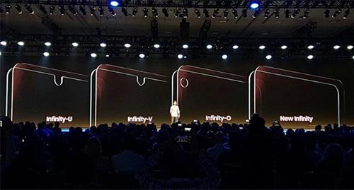 Bốn kiểu thiết kế chính trên smartphone của Samsung năm tới.