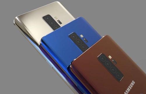 Hình dung về Galaxy S10+ với bốn camera mặt sau