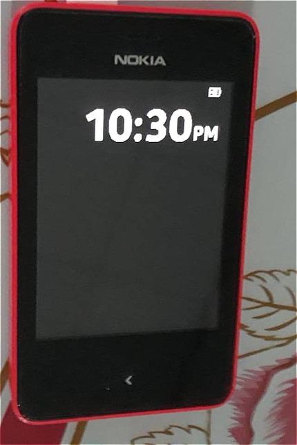 Chiếc Nokia Asha 501 của gia đình chị Cẩm Vân