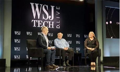 Renee James, CEO của Ampere (phải) và Richard Clemmer, CEO của NXP (trái) tại sự kiện WSJ D.Live.