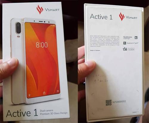 Active 1 chạy chip của Qualcomm, dùng camera kép đặt dọc như iPhone X.