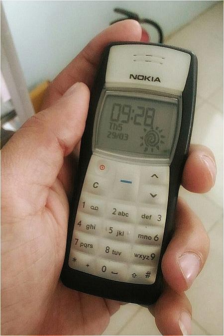 Chiếc điện thoại đầu tiên của độc giả Kim Cương.