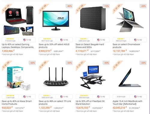 Đồ công nghệ giảm giá trên chuyên trang Cyber Monday của Fado.