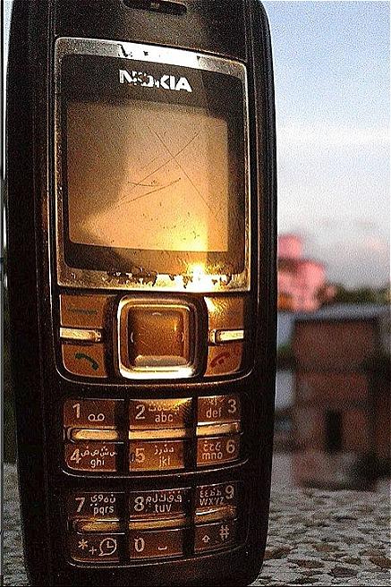 Chiếc Nokia 1600 của gia Äình Äá»c giả Huyá»n Trang.