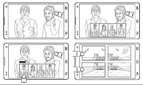 Mô tả trong bằng sáng chế cho thấy thủ thuật trao đổi khuôn mặt và ghép bốn bức hình với nhau.