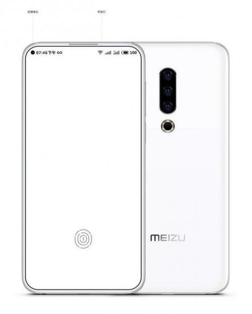 Meizu 16S có 4 viền bao quanh đều rất mỏng nhờ camera nằm lọt trong màn hình.