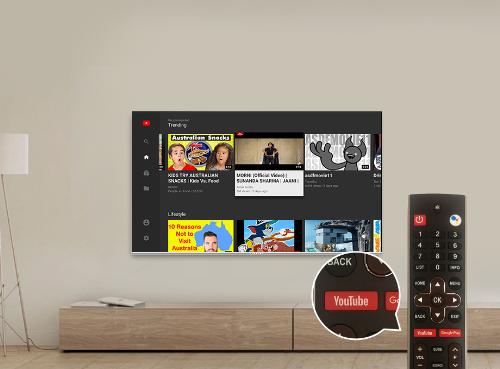 Dòng smart TV Coocaa S5C có thể khởi động YouTube chỉ trong một giây.