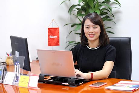 Bà Đồng Vũ Mai Phương, giám đốc marketing tập đoàn Bkav