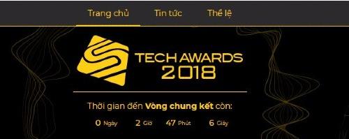 Bắt đầu bình chọn vòng Chung kết Tech Awards 2018