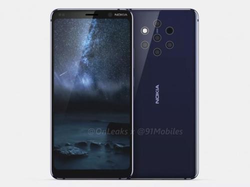 Nokia 9 hứa hẹn là smartphone có nhiều camera nhất với 5 camera ở mặt lưng, trong khi Galaxy A9 của Samsung mới có 4.