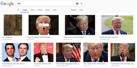 Kết quả tìm kiếm hình ảnh trên Google với từ khóa idiot.
