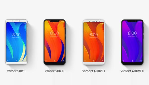 Bốn điện thoại mang thương hiệu Vsmart đầu tiên thuộc phân khúc tầm trung, giá rẻ.