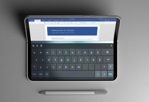 Ý tưởng thiết bị di động màn hình bẻ gập của Microsoft.