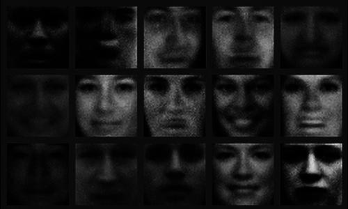 Những hình ảnh khuôn mặt người được hệ thống GANs tạo ra cách đây 4 năm.