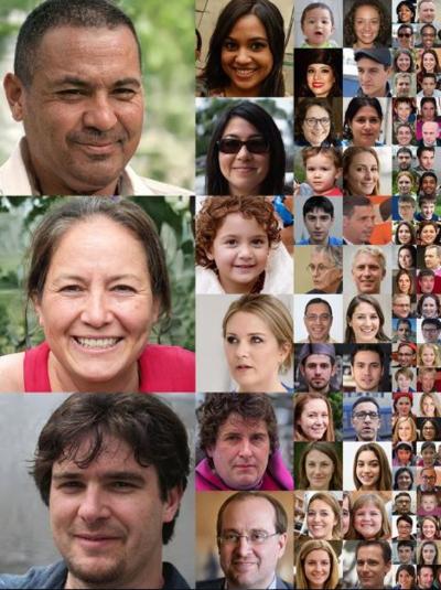 Không ai trong số những người này có thật.