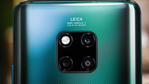 Cụm camera vuông độc đáo trên Huawei Mate 20 Pro.