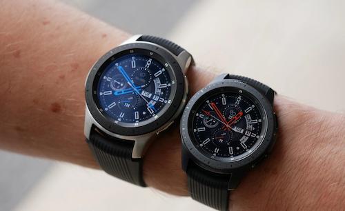 Galaxy Watch bản 46 mm và 42 mm. Ảnh: SamMobile.