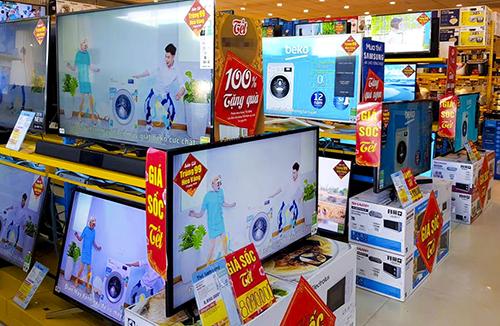 Nhiều hệ thống điện máy triển khai các chương trình khuyến mãi TV dịp cận Tết.