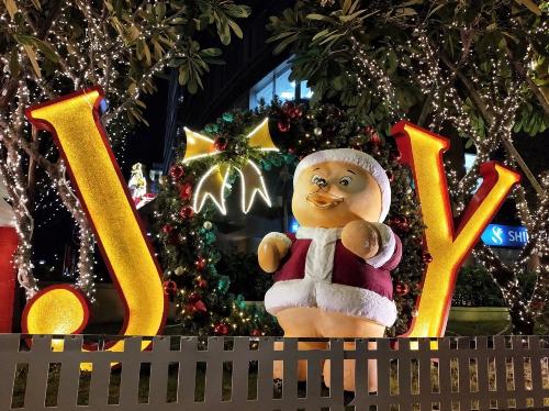 Một bức ảnh chụp trang trí Noel  năm mới, điều kiện ánh sáng phức tạp nhưng chất lượng ảnh khá ổn