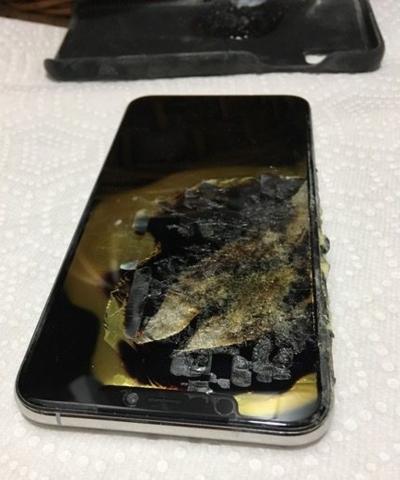 Mặt trước của chiếc iPhone Xs Max bị cháy và nổ. Ảnh: iDrop News