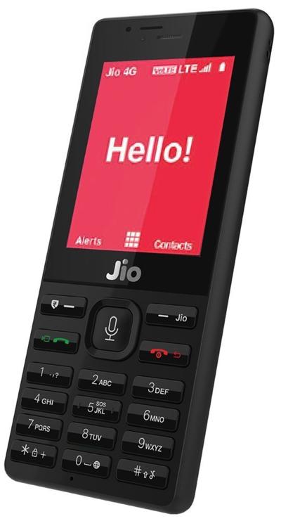 Điện thoại phổ thông hỗ trự 4G JioPhone.