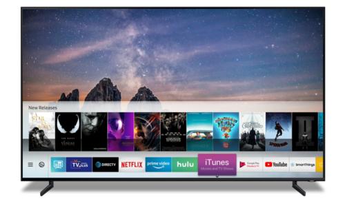 Kho phim và giải trí iTunes của Apple xuất hiện trên Smart TV Samsung.