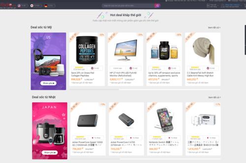 Fado.vn giúp khách hàng dễ dàng tìm kiếm từ hơn 4 tỷ sản phẩm tại Mỹ, Nhật, Đức.