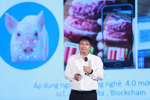 Tiến sĩ Đào Hà Trung - Giám đốc công ty Te-Food tại hội thảo. Ảnh: Thành Nguyễn.