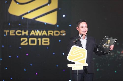 Ông Phạm Bá Diệp - Phó Chủ tịch HĐQT MoMo chia sẻ khi nhận giải.