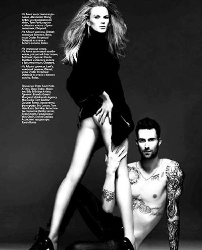 Adam Levine xuất hiện trên trang bìa Vogue phiên bản Nga theo cách đáng sợ. Xem đáp án.