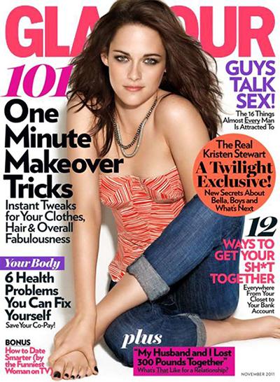 Ngôi sao Chạng vạngKristen Stewartxuất hiện trên trang bìa của tạp chí Glamour với vẻ rạng rỡ nhưng tấm hình lại không hoàn hảo. Xem đáp án.