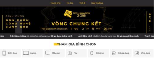 Độc giả chỉ còn một ngày để tham gia bình chọn Tech Awards 2018.