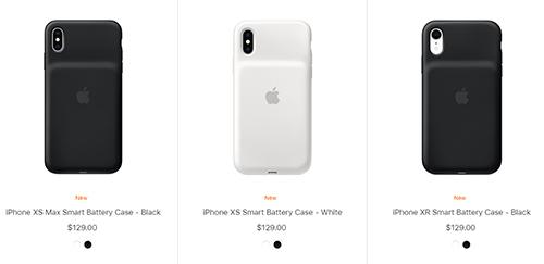 Smart Battery Case cho iPhone XS, XS Max và XR hỗ trợ sạc không dây, sạc nhanh. Ảnh: Apple.