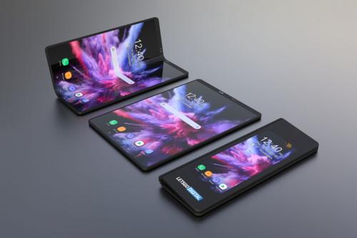 Ý tưởng về smartphone có thể gập màn hình.