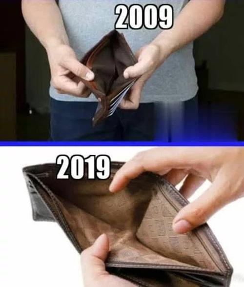 Năm 2009 nghèo và đến năm nay cũng vẫn nghèo.