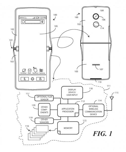 Bản thiết kế smartphone màn hình gập của Lenovo.
