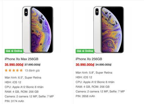 Các siêu thị lớn cũng hạ giá iPhone XS, XS Max và XR tới hàng triệu đồng so với niêm yết, điều ít thấy ở những thế hệ trước.