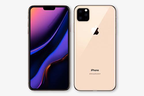 Concept iPhone 11 với ba camera. Ảnh: Cnet.