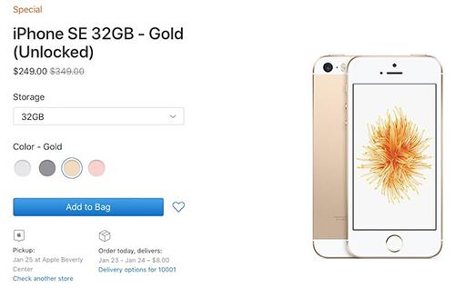 iPhone SE được Apple đưa trở lại cửa hàng trực tuyến với giá từ 249 USD. Ảnh: MacRumors.