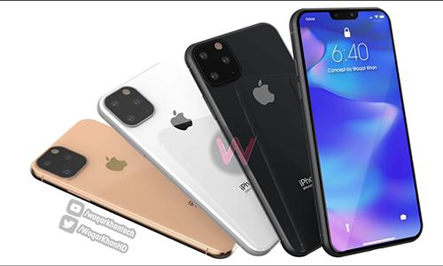 Concept iPhone 11 với ba camera. Ảnh: WT.