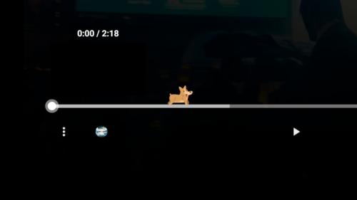 Con chó Corgi được giấu trên timeline của video trên YouTube.